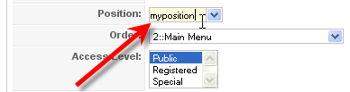 Tutorial Screenshot: User-defined Module position