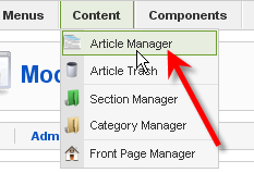 Tutorial Screenshot: Article Manager