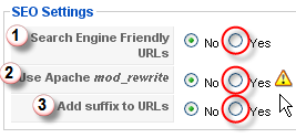 Screenshot: Site - SEO Settings