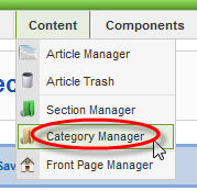 Screenshot: Category Manager