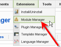 Screenshot: Module Manager #1
