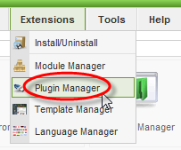 Screenshot: Plugin manager #1
